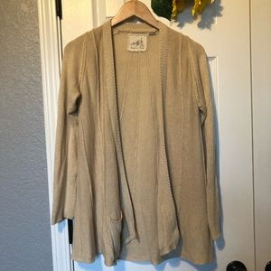 Angel of the North Oatmeal Knit Cardigan Sweater